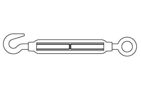 SIM 1480-C - Tensor, ojo - gancho, similar DIN 1480