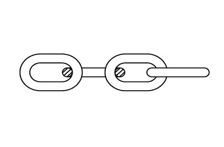 CAD - Commercial link chain, box