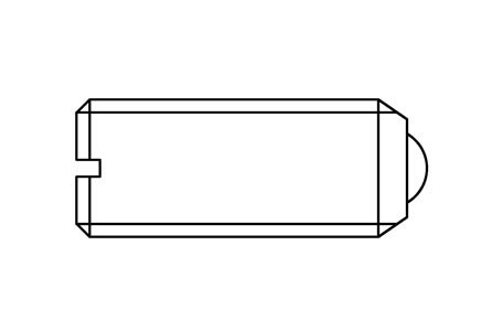 HX 10066 - Slotted ball plunger