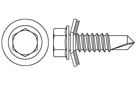 DIN 7504-K - Self drilling screws with EPDM washer