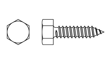 DIN 7976 - Hexagon head self tapping screws