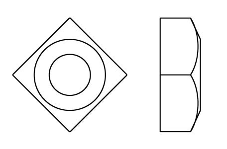 DIN 557 - Square nuts