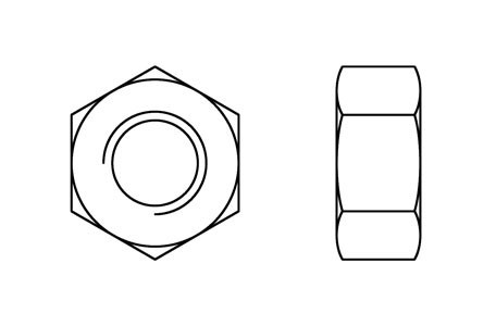 DIN 934 - Hexagon nuts, fine pitch