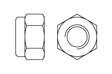 DIN 985 - Prevailing torque nuts, fine pitch