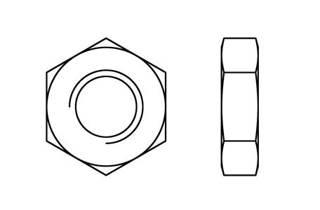 DIN 936 - Hexagon thin nuts, fine pitch
