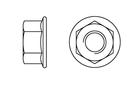 DIN 6923 - Hexagon flanged nuts with serration