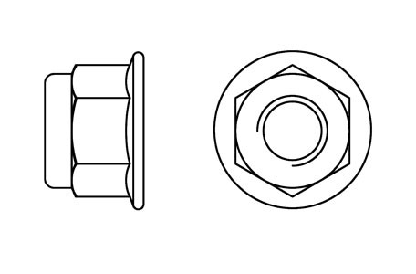 DIN 6926 - Flanged prevailing torque nuts