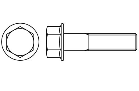 DIN 6921 - Flanged hexagon bolts with serration