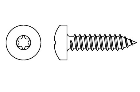 DIN 7981 - Self tapping screws, TORX